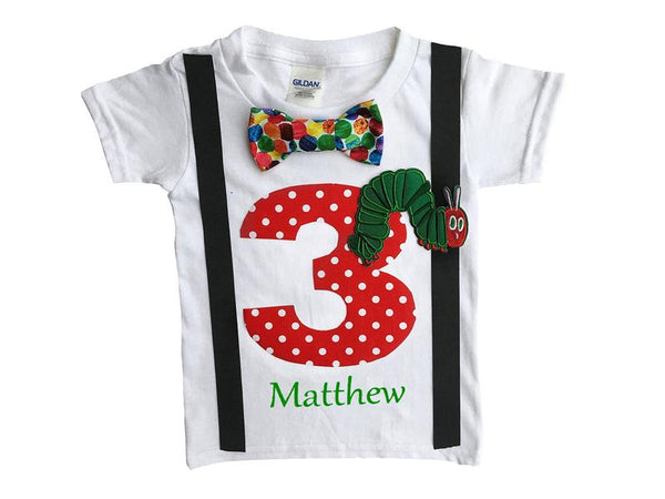 3rd Birthday Baby Boys Hungry Caterpillar Bodysuit