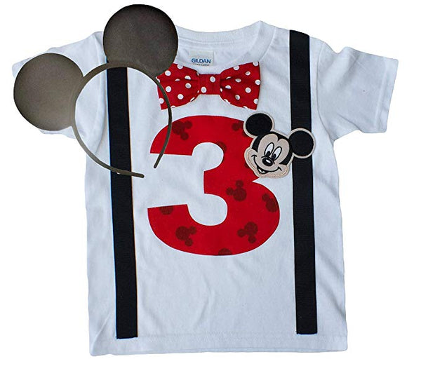 Boys 3rd Birthday Shirt Mickey Mouse Tee