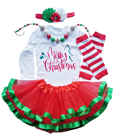 First Merry Christmas Outfit Girl Tutu