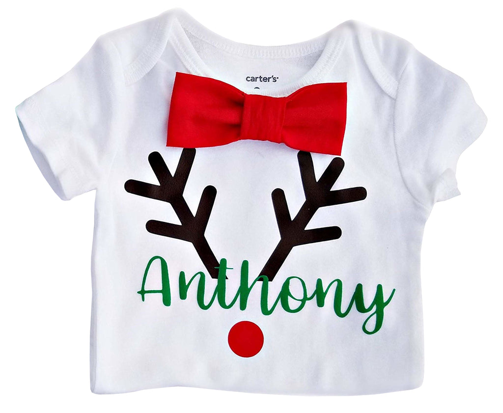Boy Girl Twin Brother Sister Christmas Set - Personalized Reindeer