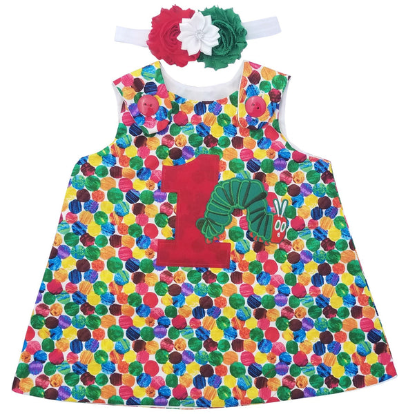 1st Birthday Girl Outfit - Hungry Caterpillar