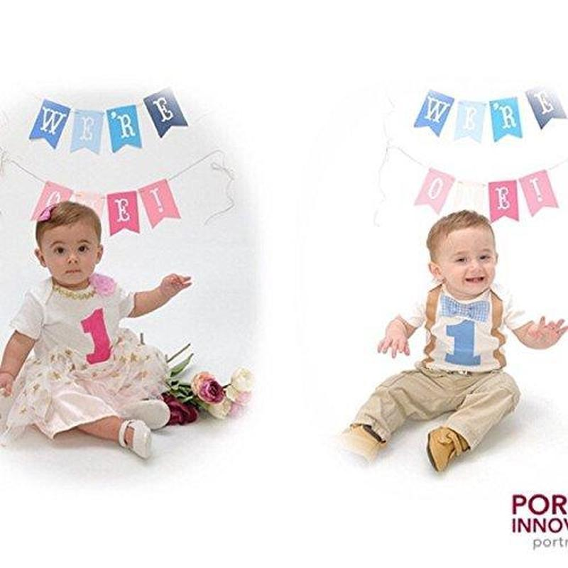 85dc82287 ... Twin Outfits Boy Girl 1st Birthday Set Blue Gingham and Pink-LukeandLulu