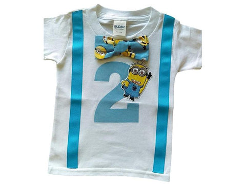 Boys 2nd Birthday Shirt Minions Tee