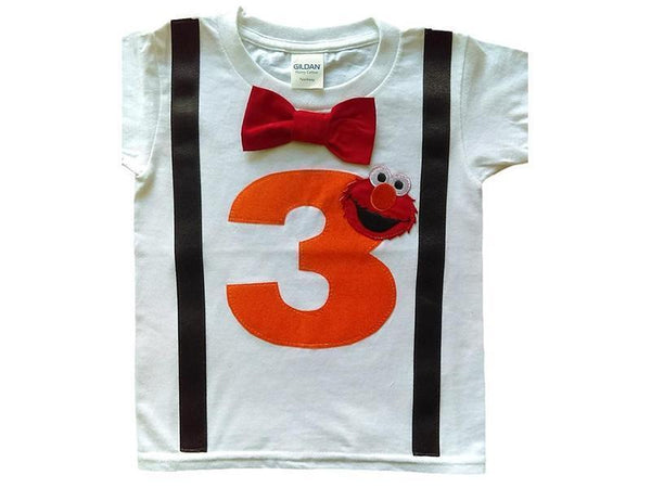 Boys 3rd Birthday Shirt Elmo Tee