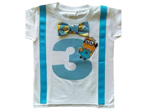 Boys 3rd Birthday Shirt Minions Tee