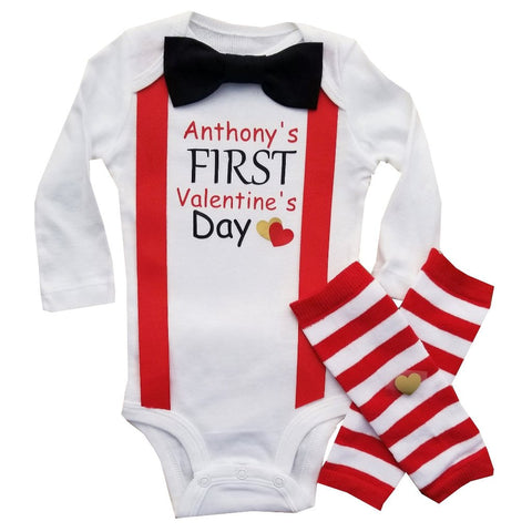 Baby Boy First Valentine Red Black NB-24M