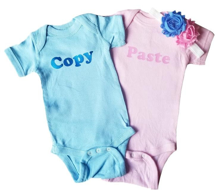 Boy Girl Twin Bodysuit - Copy and Paste