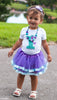 1st Birthday Girl Outfit - Mermaid Tutu Personalized