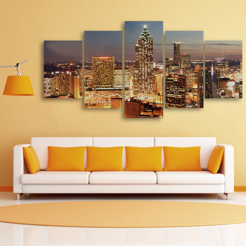 Wall Canvas - Atlanta 5 Piece Canvas
