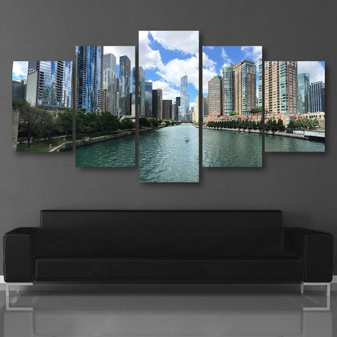 Wall Canvas - Chicago 5 Piece Canvas