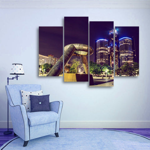 Wall Canvas - Detroit 4 Piece Canvas