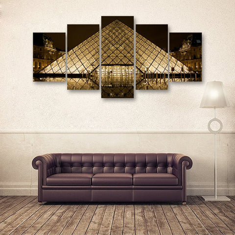 Wall Canvas - Glass Pyramid 5 Piece Canvas