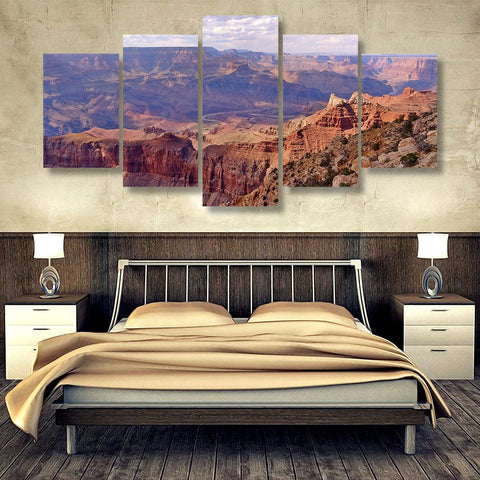 Wall Canvas - Grand Canyon 5 Piece Canvas