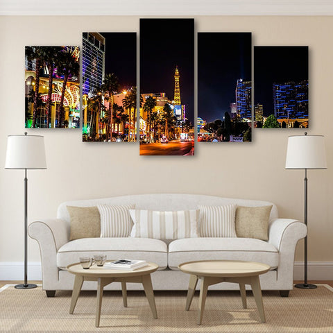 Wall Canvas - Las Vegas 5 Piece Canvas