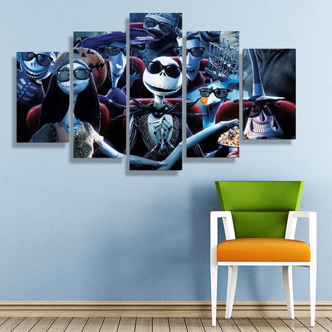 Wall Canvas   Nightmare Before Christmas 5 Piece Canvas