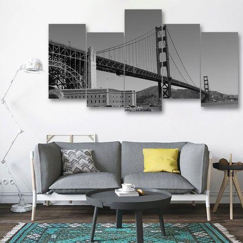 Wall Canvas - San Fransisco 5 Piece Canvas