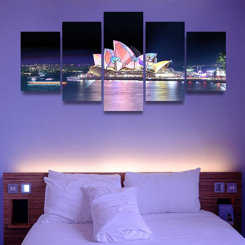 Wall Canvas - Sydney Opera House 5 Piece Canvas