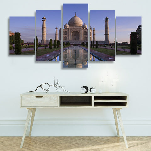 Wall Canvas - Taj Mahal 5 Piece Canvas