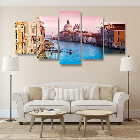 Wall Canvas - Veni Vidi Venice 5 Piece Canvas
