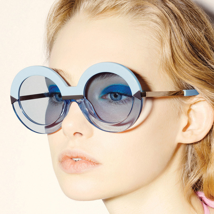 ea605be25 Fashion Oversized Luxury Big Round Frame Sunglasses for Womens, Sunglasses  - TheMarketHood
