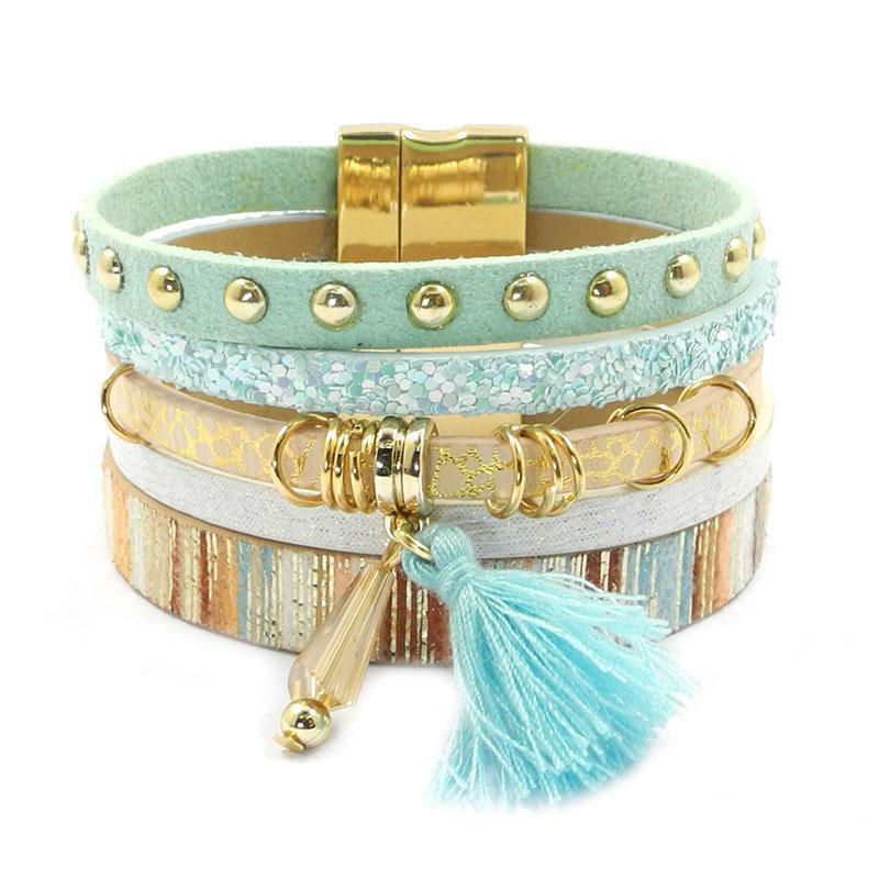 Fashion Set Leather Bracelet for Womens, Clothing - TheMarketHood