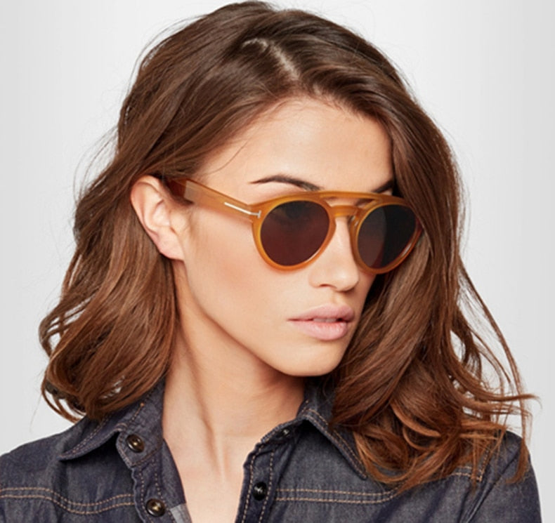 Vintage Fashion Style Round Frame Sunglasses for Mens and Womens