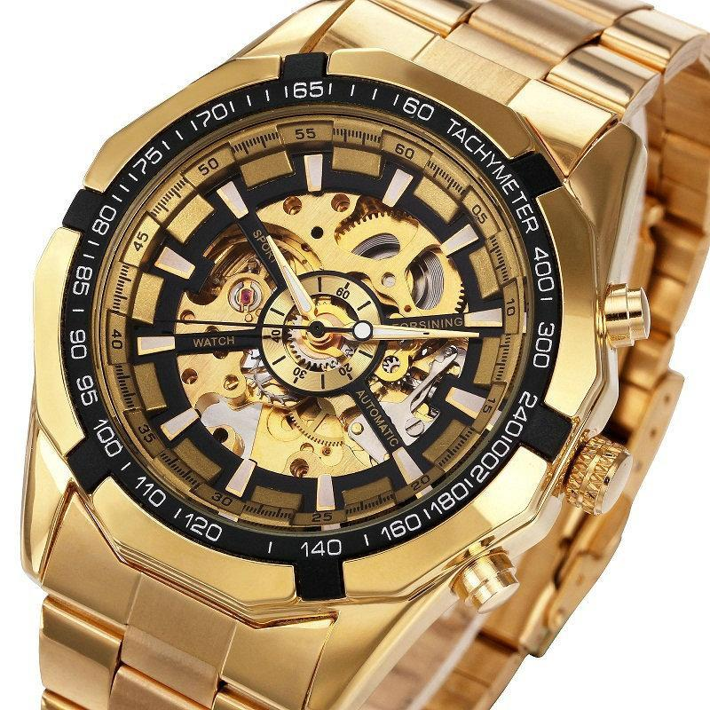 Luxury Skeleton Watch Automatic for Mens, Watches - TheMarketHood