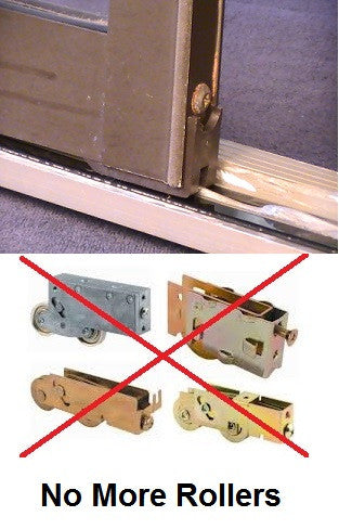 fix a sliding door without replacing the rollers