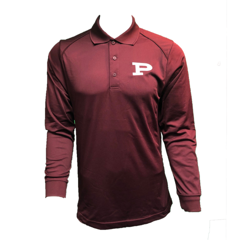 Long Sleeve Dress Code Polo - Maroon