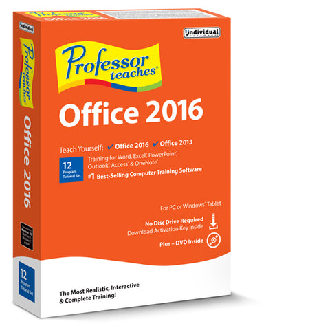 Professor Teaches Office 2016