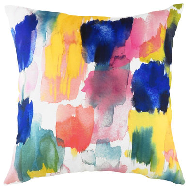 Aquarelle Brushstrokes Cushion