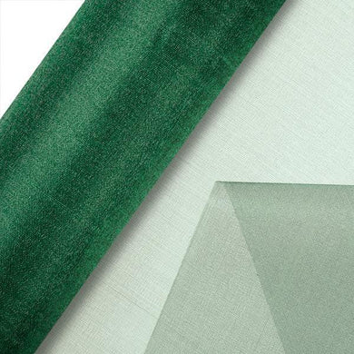 Green Plain Organza