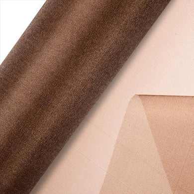 Brown Plain Organza
