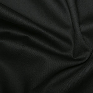 Black Polycotton Gaberdine