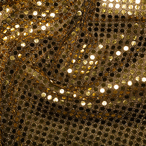 Gold/Black 6mm Sequins