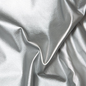 Silver Leatherlook Stretch P.U.