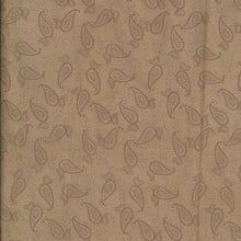 Load image into Gallery viewer, Beige Paisley Scuba Suede