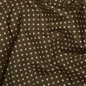 Brown Cotton Poplin - Spots 10mm