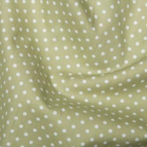 Green Cotton Poplin - Spots 10mm