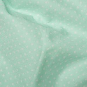 Mint Cotton Poplin - Spots 10mm