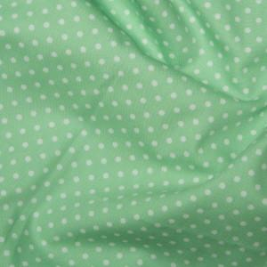 Pistachio Cotton Poplin - Spots 10mm