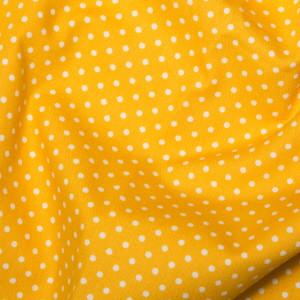 Yellow Cotton Poplin - Spots 10mm