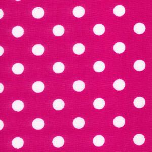 Cerise Cotton Poplin - Spots 30mm