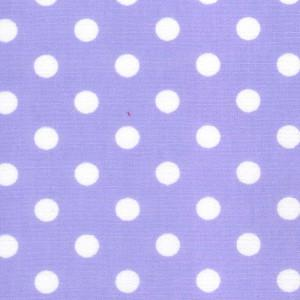 Lilac Cotton Poplin - Spots 30mm