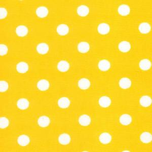 Yellow Cotton Poplin - Spots 30mm