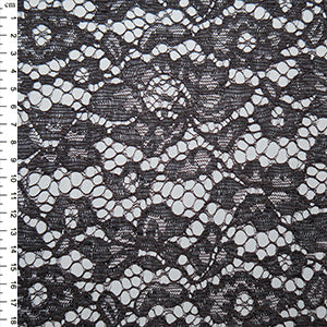 Dark Grey Corded Lace