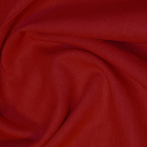 Dark Red Enzyme Washed Linen