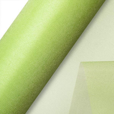 Lime Plain Organza