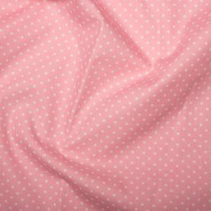 Mid Pink Cotton Poplin - Spots 10mm