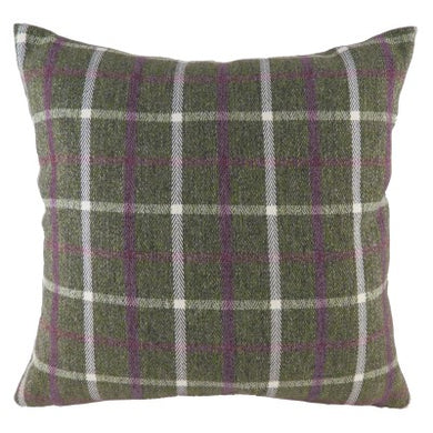 Heather Wrap Perth Check Cushion